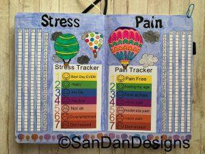 Hot air balloon stress and pain trackers