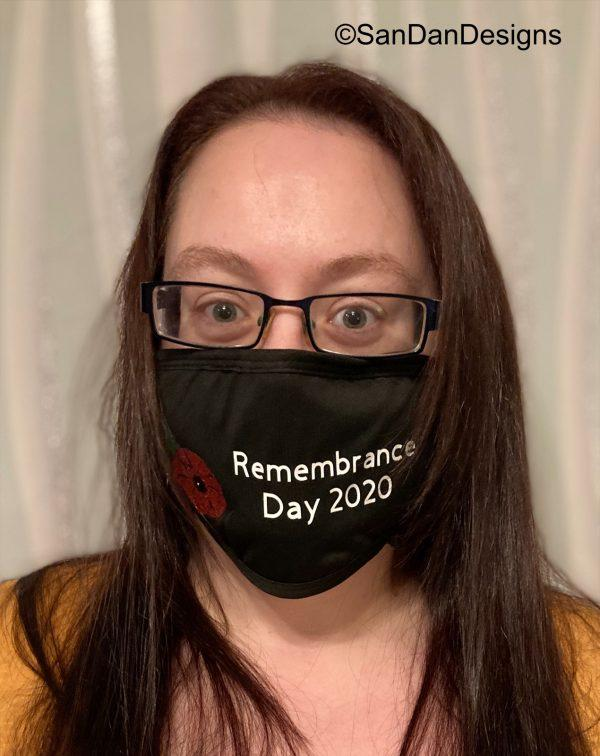 Remembrance day 2020 facemask shot 1