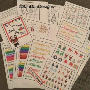 Christmas monthly sticker bundle